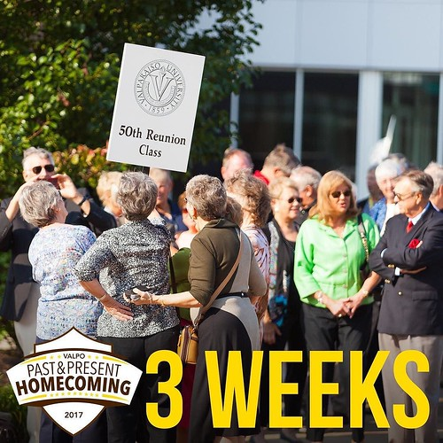 We're three weeks away from Homecoming Weekend! What events do you look forward to attending? #ValpoHome17