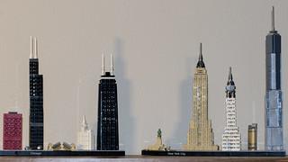 Chicago & NYC skylines