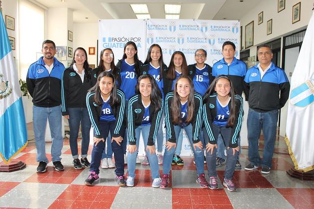 Juramentación Voleibol Femenino Centroamericano Sub 18