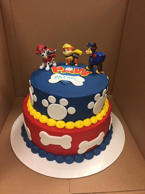 Paw Patrol Cake by Delightful Hearts Sweet Treats