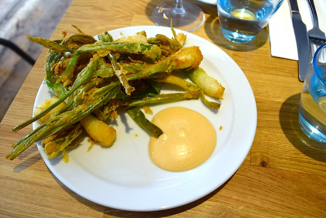 Cornmeal Crispy Spring Onions with Chipotle Mayo at Lupins, Borough | www.rachelphipps.com @rachelphipps