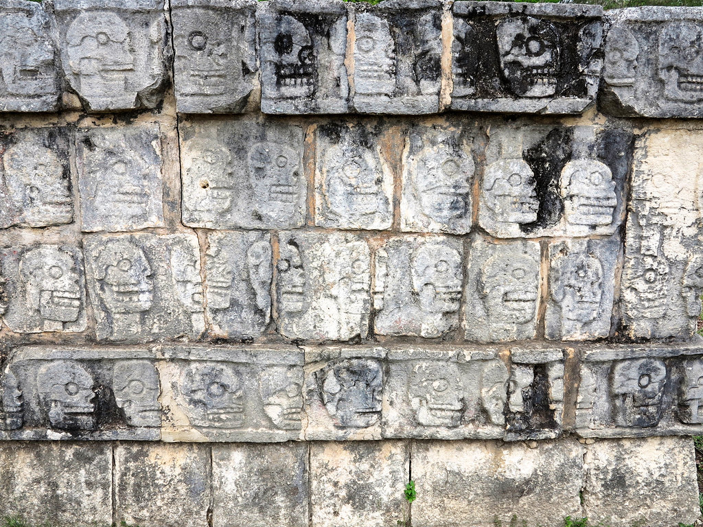 Recinto Tzompantli en Chichén Itzá