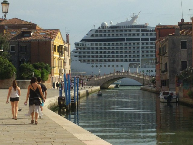 Venice with cruise ship - Italy