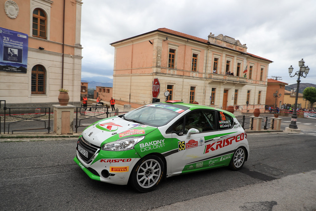 35 KLAUSZ Kristof (HUN) Botond CSANYI (HUN) Peugeot 208 R2 action during the 2017 European Rally Championship ERC Rally di Roma Capitale,  from september 15 to 17 , at Fiuggi, Italia - Photo Jorge Cunha / DPPI