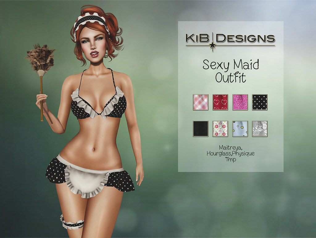 KiB Designs - Sexy Maid Outfit @The XXX Event August - SecondLifeHub.com