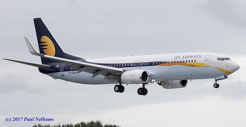 eigcm boeing 737 737800 jetairways landing shannonairport vtjth airliner jet