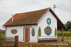 Polish folkart homes in Zalipie