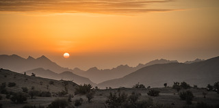 Sunrise on Jebel Akhdar, Oman