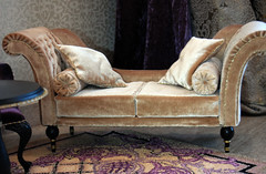 """OOAK set  """"Personal"""" 1:4. 2 armchairs, coffee table, couch, carpet."""