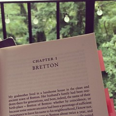 Rereading a favorite, waiting for the storm to hit. #happyseptember, #villette, #charlottebronte, #vic2017, #phdlife