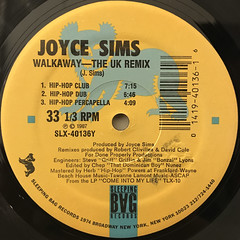 JOYCE SIMS:WALKAWAY(LABEL SIDE-B)