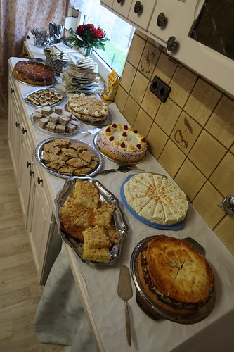 Kuchenbuffet anlässlich einer Goldenen Hochzeit