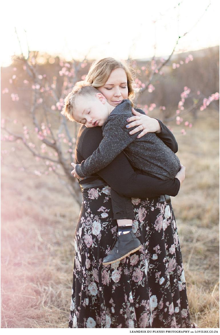 Spring blossom maternity shoot