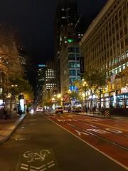 A September night on Market Street, San Francisco.