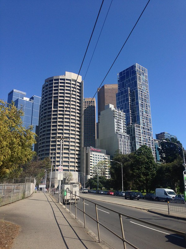 Melbourne city from Wellington Parade
