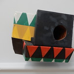 modern art birdhouse