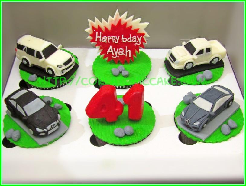 Cupcake set mobil Ayah