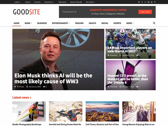 GoodSite v1.0 – Flexible Magazine Theme