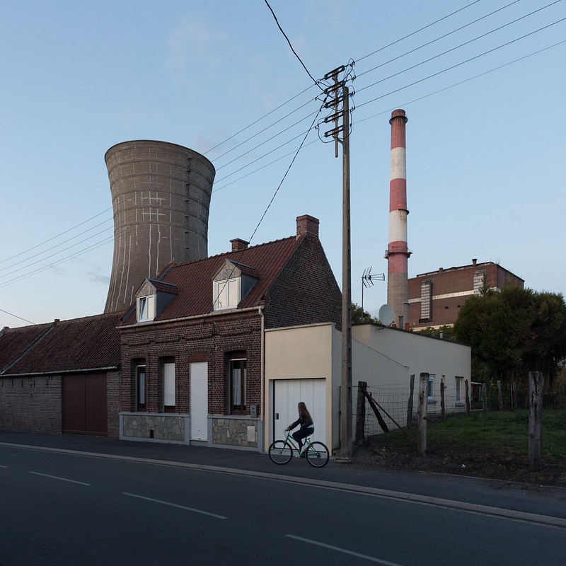 The shuttered Hornaing, France coal-fired power plant.