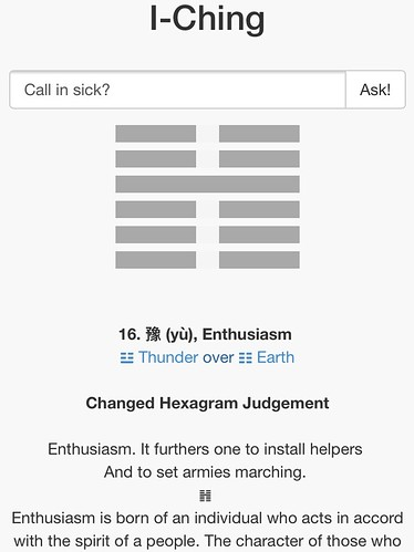 Decision Making Apps - I-Ching