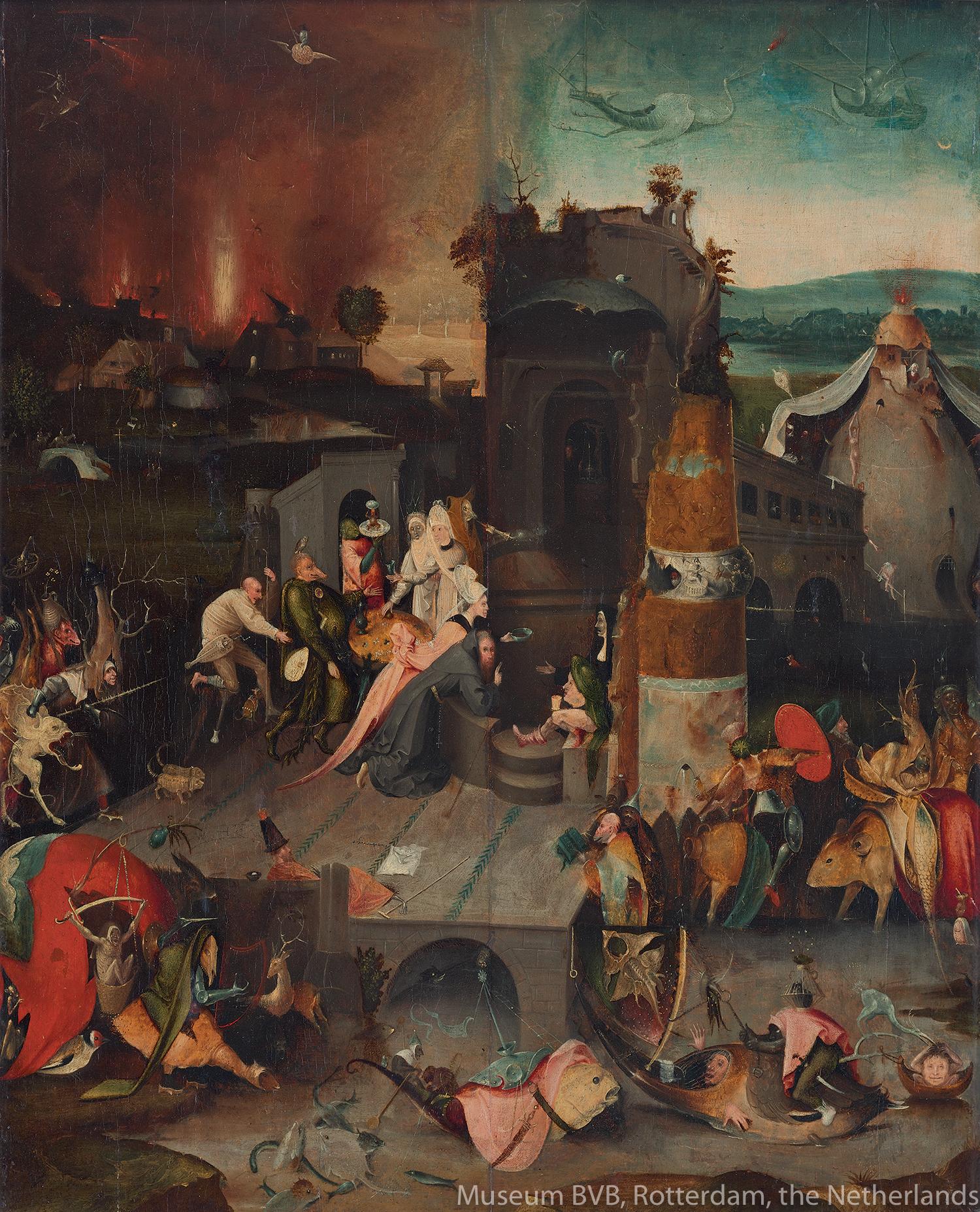 ヒエロニムス・ボスに基づく《聖アントニウスの誘惑》(1540年頃)