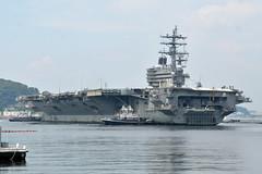 USS Ronald Reagan (CVN 76) returns to Fleet Activities Yokosuka, Aug. 9.  (U.S. Navy/MC1 Peter Burghart)