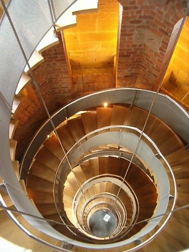 Spiral staircase at The Lighthouse, Scotland's Centre for Design and Architecture. From Art, Architecture, and Glasgow: Mackintosh, Scotland with Style