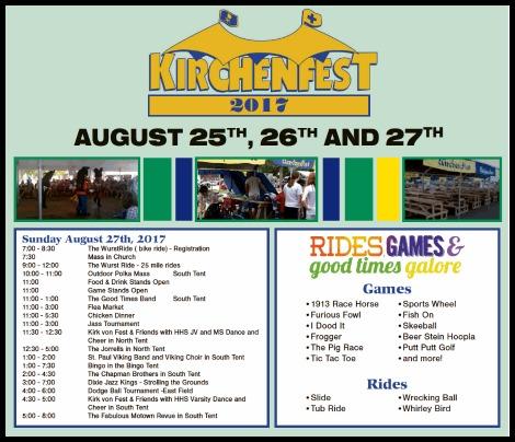 Kirchenfest 2017, 8-27-17