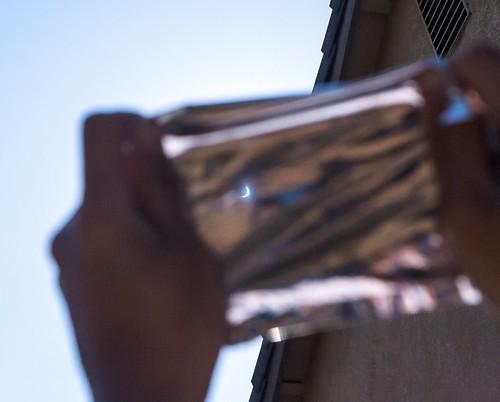 poptart eclipse solar foil makeshift