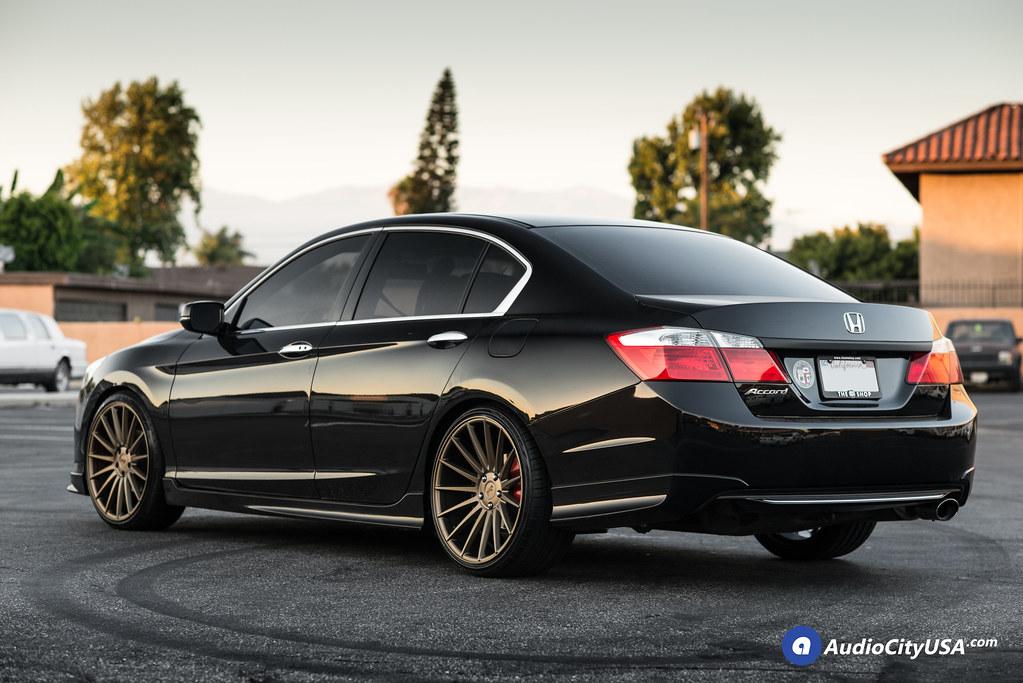 black 2015 honda accord sedan 20 niche wheels form m 168 bronze deep concave h r lowering. Black Bedroom Furniture Sets. Home Design Ideas