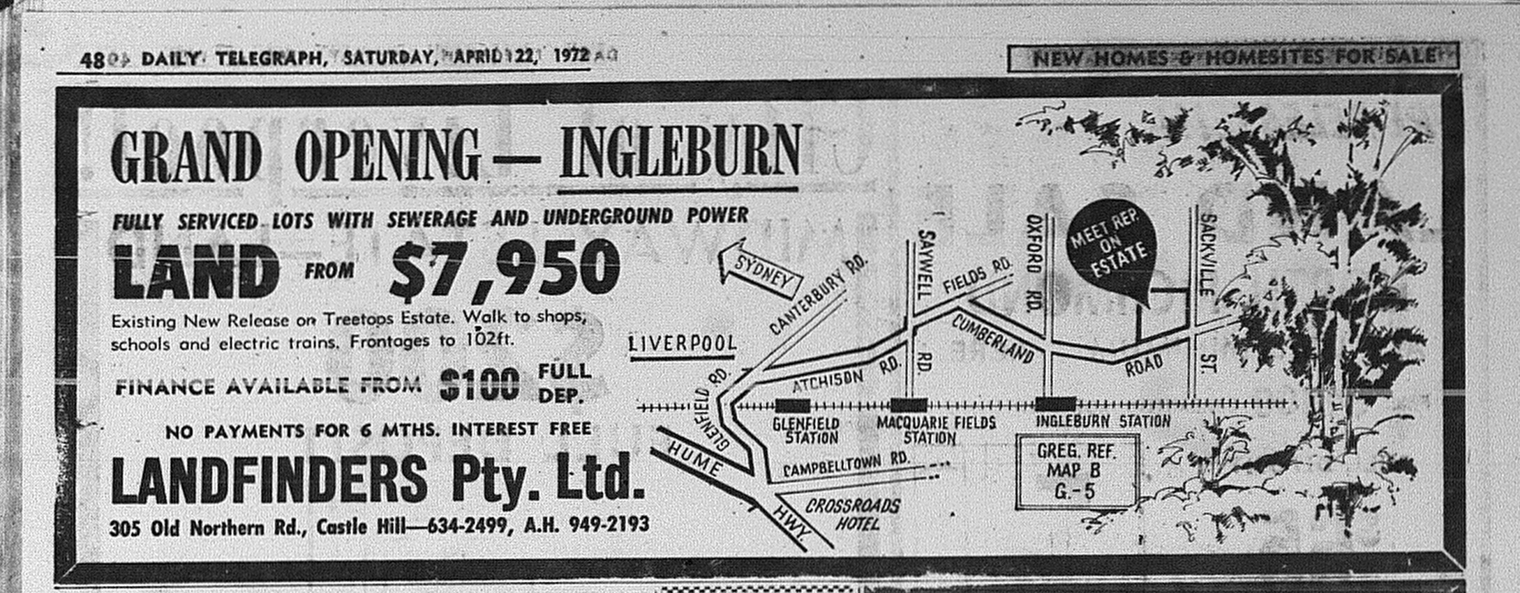 Ingleburn ad April 22 1972 daily telegraph 48