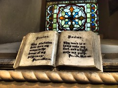 A passage from Psalms set in stone in St Patrick's Cathedral