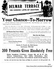 Delmar terrace house lots for sale  1915