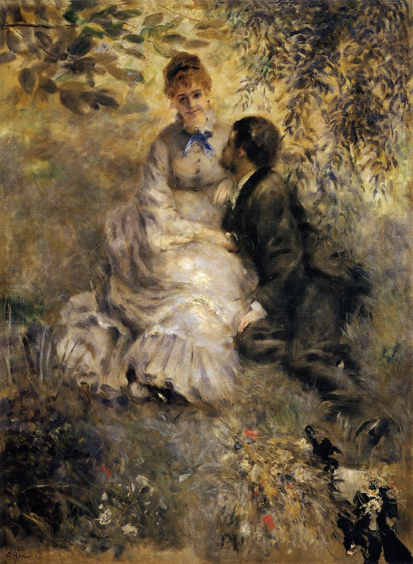 The Lovers by Pierre Auguste Renoir, 1875