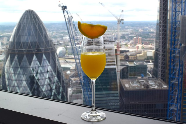 Mimosas with a View at Duck and Waffle | www.rachelphipps.com @rachelphipps