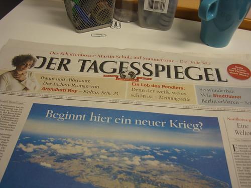Zeitung am Morgen