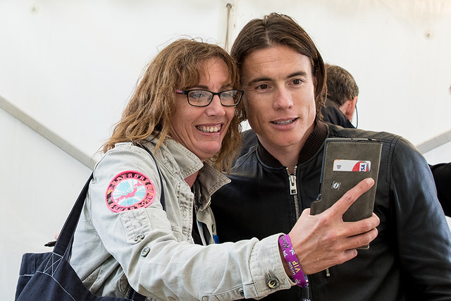 James Toseland of Toseland in the signing tent -Ramblin' Man Saturday-7 copy
