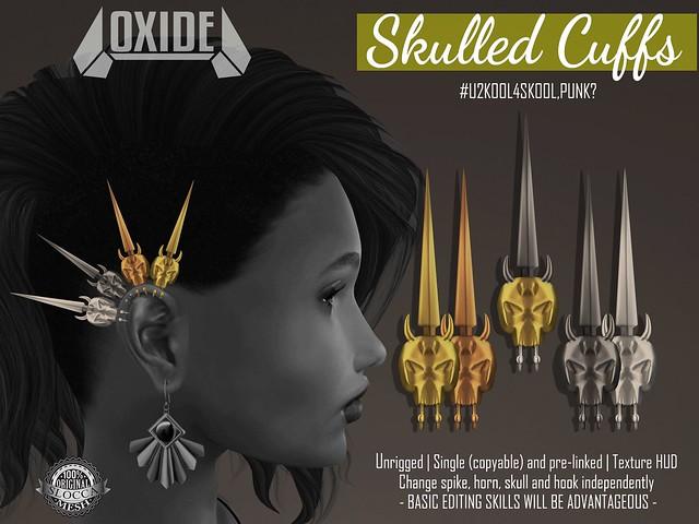 OXIDE Skulled Cuffs - Rewind 70's Punk