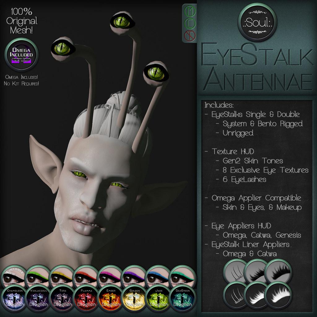 .:Soul:. EyeStalk - Antennae - SecondLifeHub.com