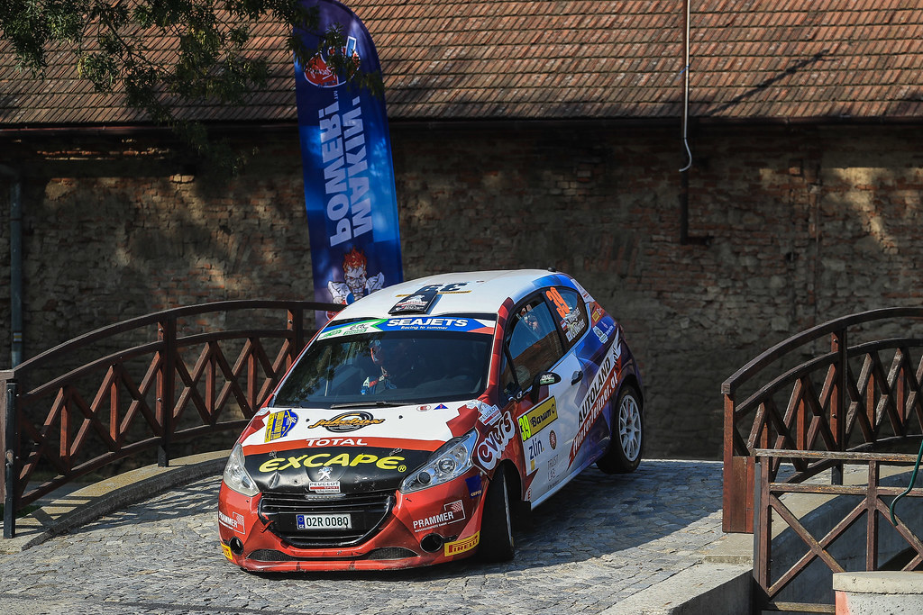 39 WAGNER Simon (AUT) WINTER Gerald (CYP) Peugeot 208 R2 action during the 2017 European Rally Championship ERC Barum rally,  from August 25 to 27, at Zlin, Czech Republic - Photo Jorge Cunha / DPPI