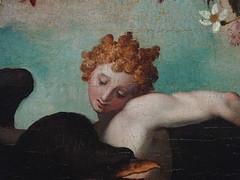 ALLORI Alessandro,1572 - Dossier de Lit avec Sc�nes Mythologiques et Grotesques, Le Rapt de Ganym�de, d'Apr�s MICHEL-ANGE (Florence) - Detail 08