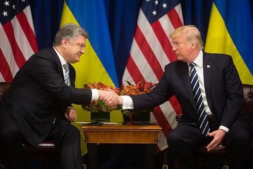 Petro Poroshenko and Donald Trump.