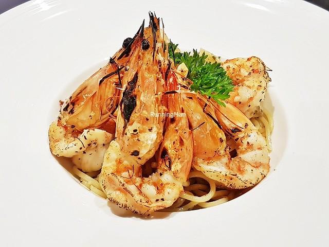 Spaghetti Aglio Olio E Acciughe With King Prawns
