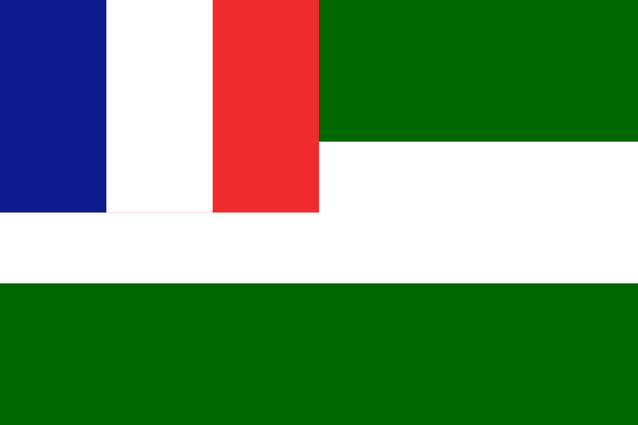Flag of the French Mandate State of Syria, 1922-1925