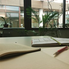 Another day, another work space. #travelingadjunct, #lovethelight, #villette, #phdlife