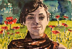 Portrait with Poppies