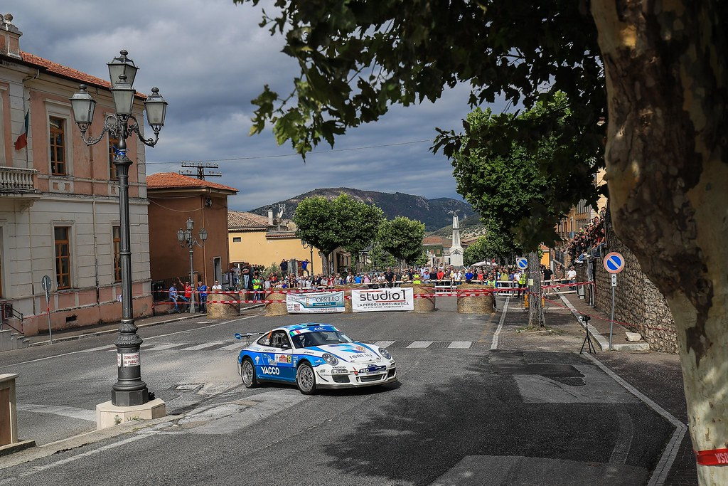 19 DUMAS Romain (FRA) GIRAUDET Denis (FRA) Porsche 997 GT3 action during the 2017 European Rally Championship ERC Rally di Roma Capitale,  from september 15 to 17 , at Fiuggi, Italia - Photo Jorge Cunha / DPPI