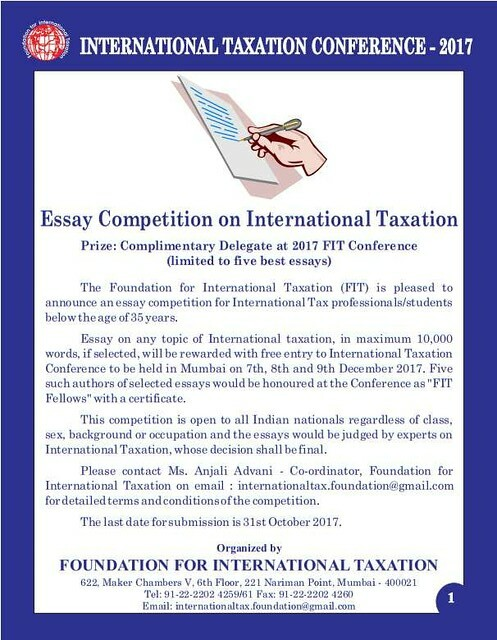 FIT International Taxation Essay Competition 2017