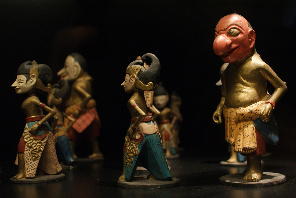 Figurines javanaises au Musée National à Copenhague.