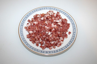02 - Zutat Speckwürfeln / Ingredient diced bacon